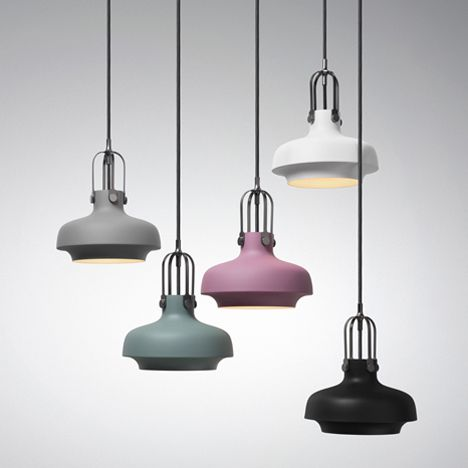 Maritime gas lamps were used as a reference for these pendant lights created by Danish studio Space Copenhagen for design brand &tradition.