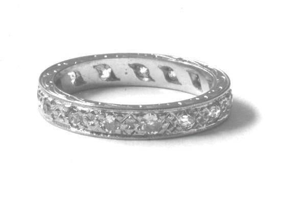 VINTAGE FULL DIAMOND ETERNITY RING.