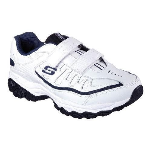 A true classic style gets even easier and more comfortable with the SKECHERS After Burn Memory Fit - Final Cut shoe. Smooth leather and synthetic upper in a two strap front athletic walking sneaker wi