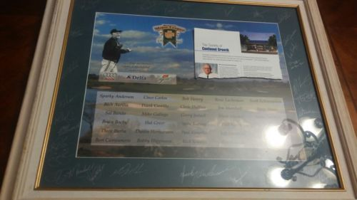 MLB Golf Invitational w hallf of famer Sparky Anderson signed by 30 ppl 2001 yr