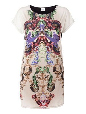 Cool printed dress from JUNAROSE. Perfect for a casual cool look. #junarose #print #dress #plussize #fashion