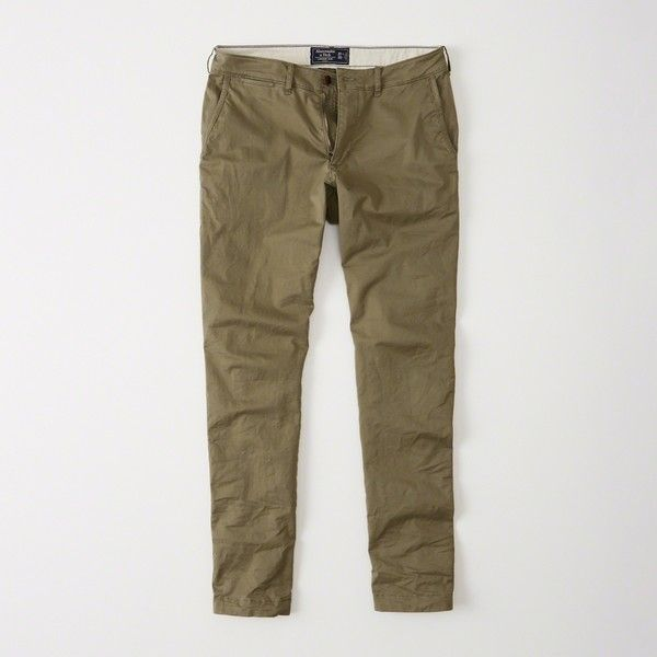 Abercrombie & Fitch Slim Chino Pants ($68) ❤ liked on Polyvore featuring men's fashion, men's clothing, men's pants, men's casual pants, olive, mens slim pants, mens olive pants, mens skinny pants, mens skinny fit dress pants and mens skinny chino pants