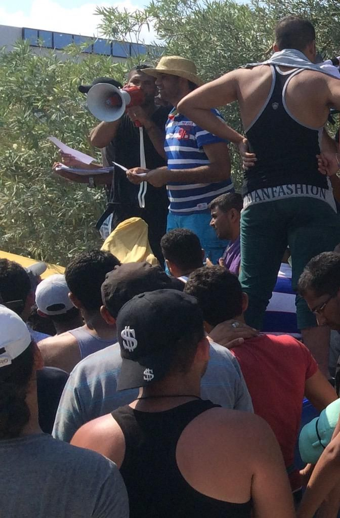 The No 1 frustration for refugees on Lesbos is the chaotic way you get your travel documents. Real source of tension.