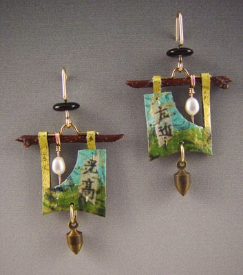 jewelry image of Handmade paper earrings