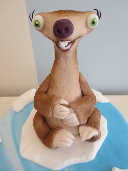 Sid the sloth cake - For all your cake decorating supplies, please visit craftcompany.co.uk