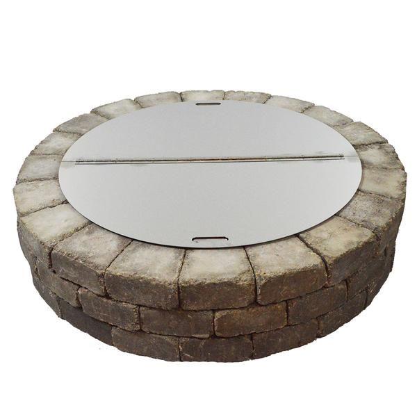 Round Stainless Steel Fire Pit Cover Firebuggz Stainless Steel Fire Pit Fire Pit Essentials Fire Pit Cover