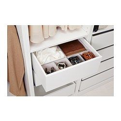 "IKEA - HYFS, Box combination, 19 ¾x13 ¾ "", , Makes it easy to find what you need inside KOMPLEMENT drawer 19 5/8x13 3/4"".Perfect for everything from small accessories to larger garments."