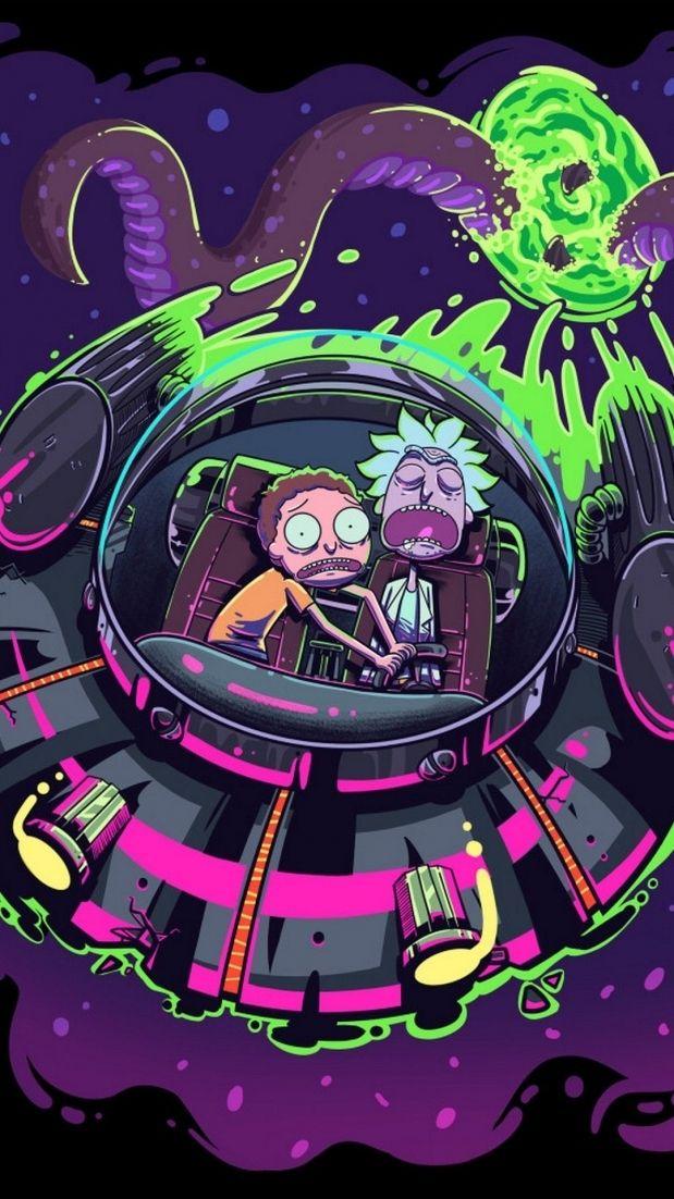 Rick And Morty Trippy Spaceship Wallpapers Top Free Rick Intended For Rick And Morty Aest Imagem De Fundo Para Iphone Arte Psicodelica Tatuagem De Rick E Morty