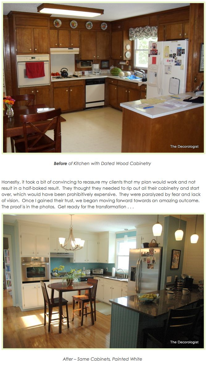 so in love with this kitchen's before and after transformation. - with little renovation whatsoever, just lots of love and paint. gives me so much hope for a fixer-upper!