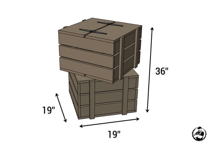 Stacked Crate End Table { Free DIY Plans } Rogue Engineer