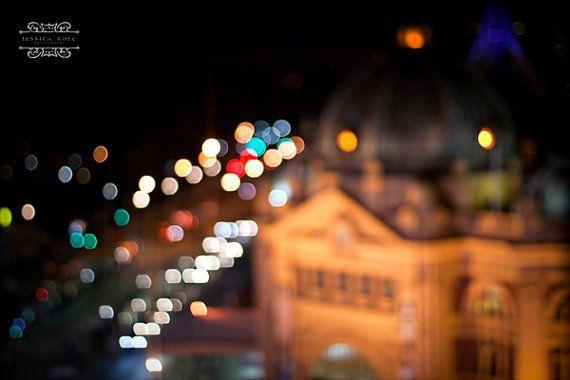 Flinders street, Melbourne Lovely abstract print of Melbourne taken October 2011 ©Jessica Rose Photography