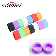 2015 Bicycle personality Grips Silicone Case Rainbow color selectable personality assembly gloves bicycle grips(China (Mainland))