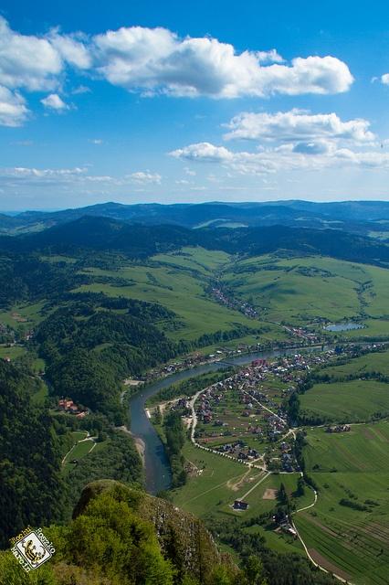 View from Trzy Korony (Three Crowns) on Pieniny Polish Mountains