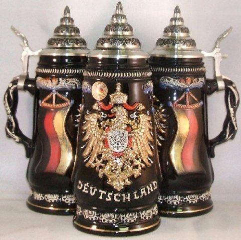 Deutschland Gold Eagle German Stein 0.5 Liter