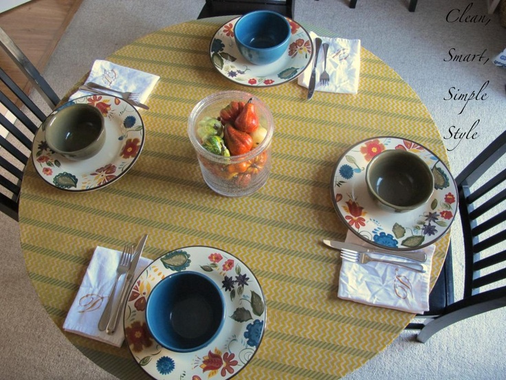striped table makeover * wow * just wow