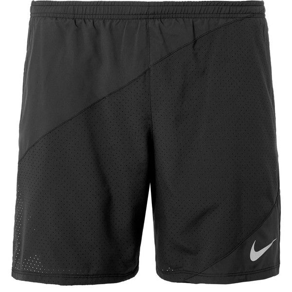 Nike Running Dri-FIT Shorts ($29) ❤ liked on Polyvore featuring men's fashion, men's clothing, men's activewear, men's activewear shorts and nike