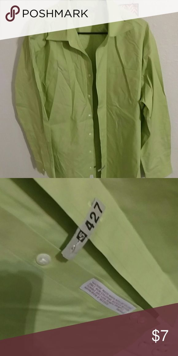Nordstrom lite lime green dress shirt Traditional fit. Long sleeve. Been dry cleaned. Sz 16/34 Nordstrom Shirts Dress Shirts