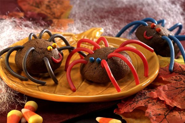 These spider cookies from The Braces Cookbook by Pamela Waterman are a great idea!