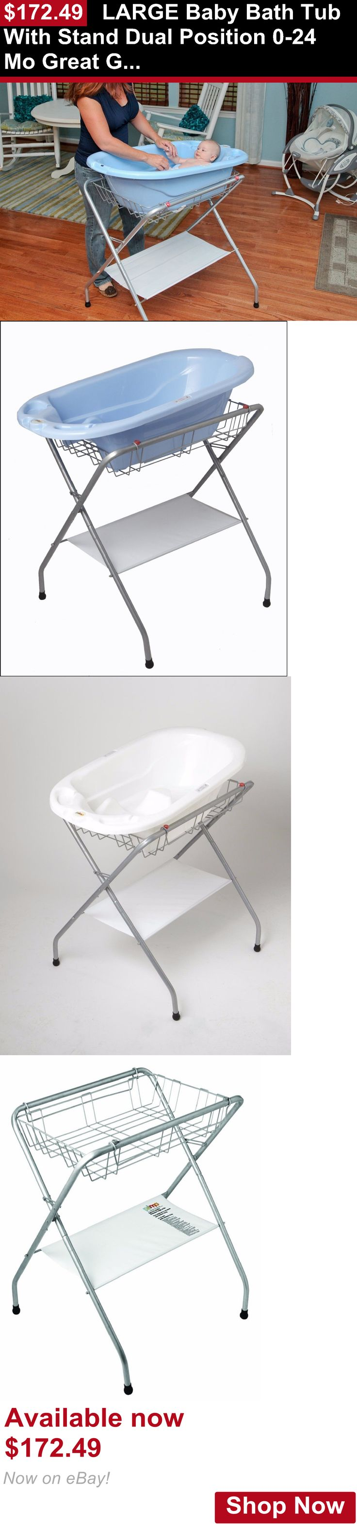 Baby Bath Tubs: Large Baby Bath Tub With Stand Dual Position 0-24 Mo Great Gift For Mom And Baby BUY IT NOW ONLY: $172.49