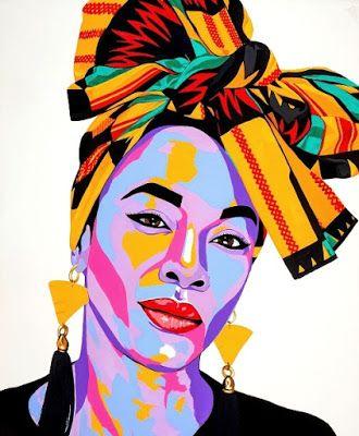 The AfroFusion Spot: Art: Artist Benny Bing, benny, benny bing, art, artist, painter, canvas, creative, nigerian, african, african art, toronto, headwrap, african queen, kente