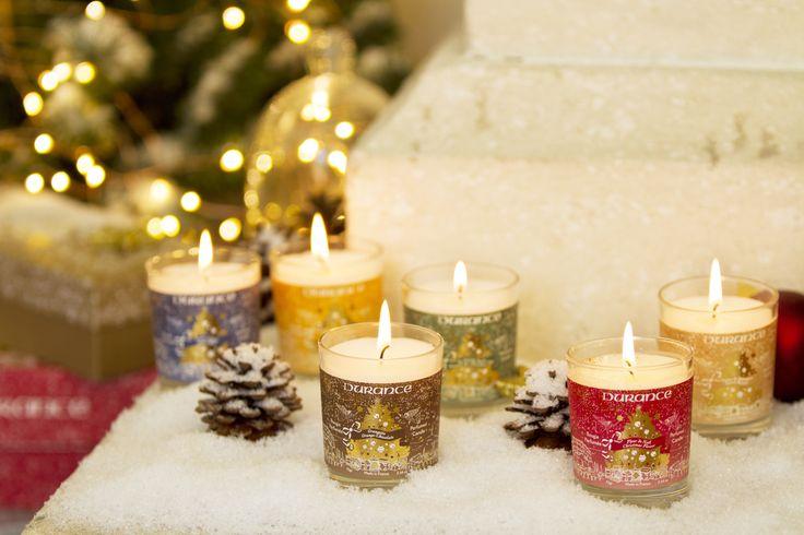 Nos 6 bougies 75g : Fleur de Noël, Poudre d'Ange, Féerie Gourmande, Au Pied du Sapin, Délice de Spéculoos et Orangette. Il y en a pour tous les goûts !