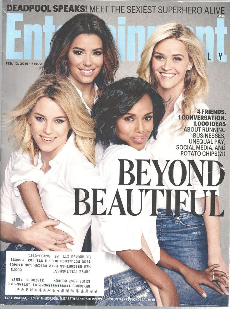 Witherspoon Longoria Banks Washinton Entertainment Weekly Feb 12 2016 Beauties   #DoesNotApply