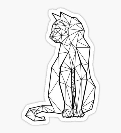 Geometric Cat Sticker