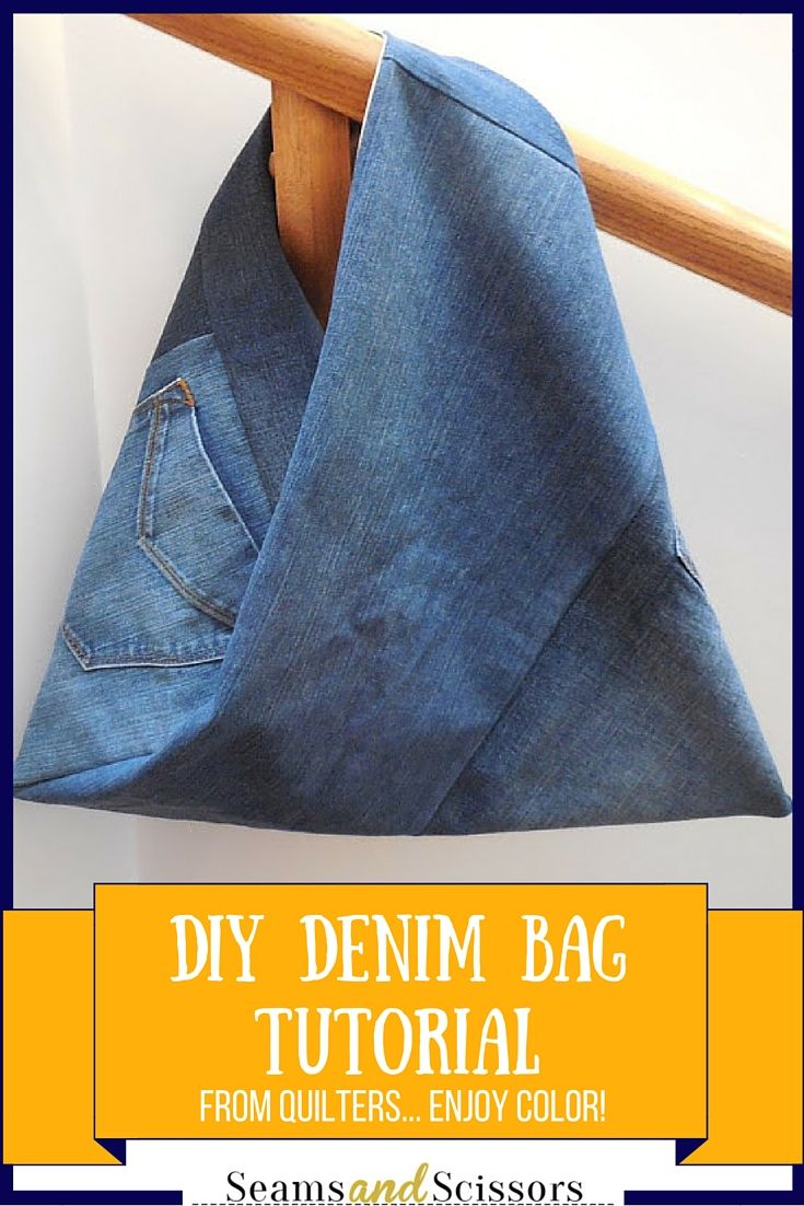 DIY Upcycled Denim Bag by Melanie from Quilters…Enjoy Color!