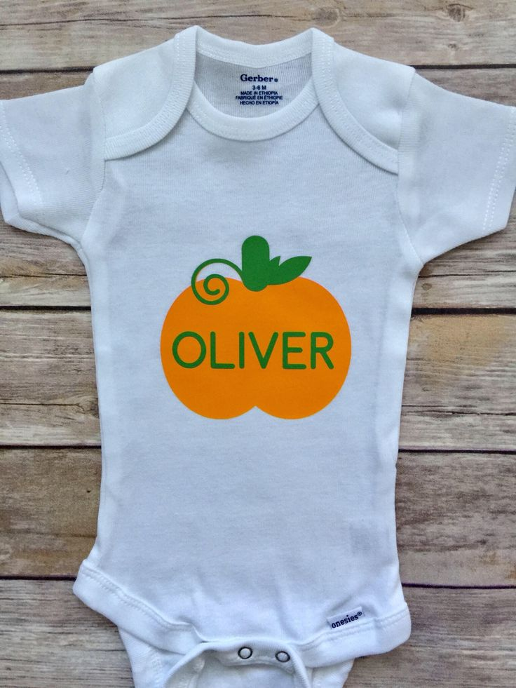 A personal favorite from my Etsy shop https://www.etsy.com/listing/547741871/custom-pumpkin-outfit-fall-onesie