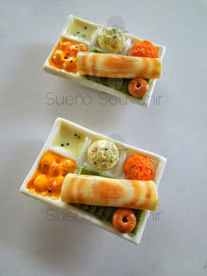 Clay food miniatures - Mini Tiffin (South Indian)