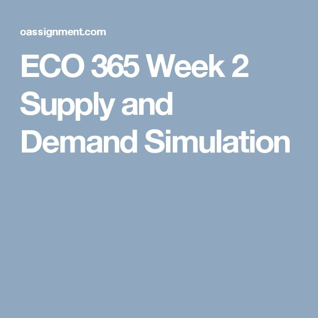 eco 365 principles of microeconomics supply and demand simulation Supply and demand simulation university of phoenix may 9, 2013 eco/365 - principles of microeconomics the supply and demand simulation consist of microeconomics and macroeconomics concepts the concepts are explained and how they apply to the principle of microeconomics and macroeconomics.