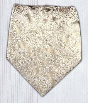 Twill Paisley - Cream/Ivory || Ties - Wear Your Good Tie. Every Day - Twill Paisley - Cream/Ivory/Champagne Ties