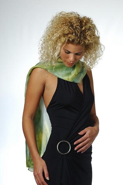 ellow Green Silk Scarf