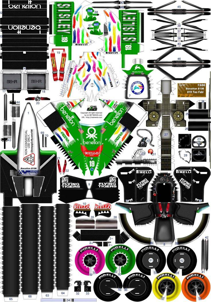 recortables de coches de carreras para los muy manitas pinterest pap. Black Bedroom Furniture Sets. Home Design Ideas