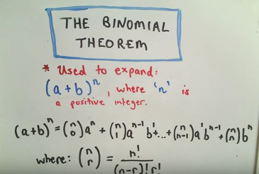 The Binomial Theorem. Aligned to A.APR.5.