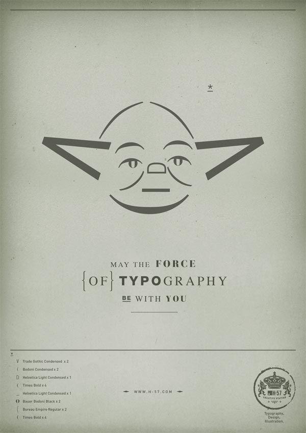 Star Wars Typographic Illustrations