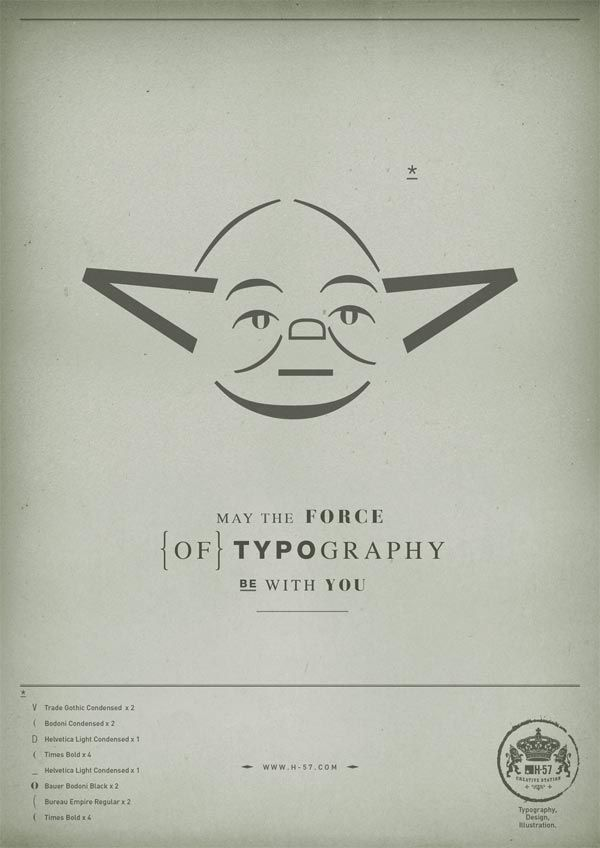 Star Wars Typographic Illustrations