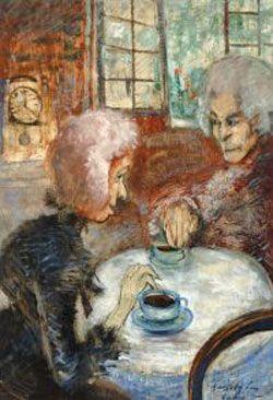 Gulácsy Lajos, A púpos vénkisasszony régi emlékeit meséli Herbertnek