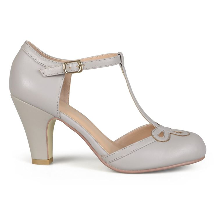 1930s Style Shoes Brinley Co. Womens Cut Out Round Toe T-strap Matte Mary Jane Pumps $31.99 AT vintagedancer.com