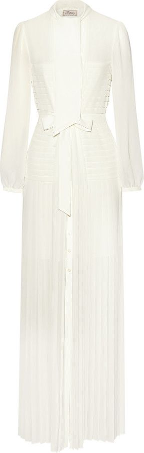 Temperley London Sahara pleated chiffon maxi dress