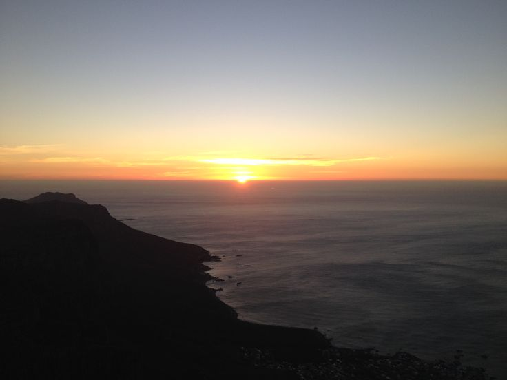 Table Mountain Sunset, Cape Town South Africa