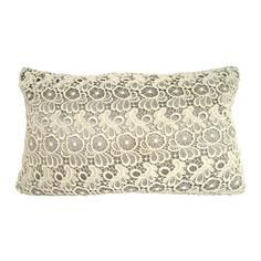 Gorgeous delicate design - would look fab with my french furniture! Grey Lace Cushion #PinItToWinIt #comp #dunelm #cushion