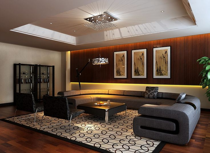 Living Room:Awesome Office Design U Shape Sectional Sofas Black Square Table For Living Room Yellow Armchairs Gold Ball Pendant Lamp White Scheme Beautiful Blue Cushions Sofa Beds Round Gray Couch Ideas Elegant Contemporary Apartment Living Room Interior
