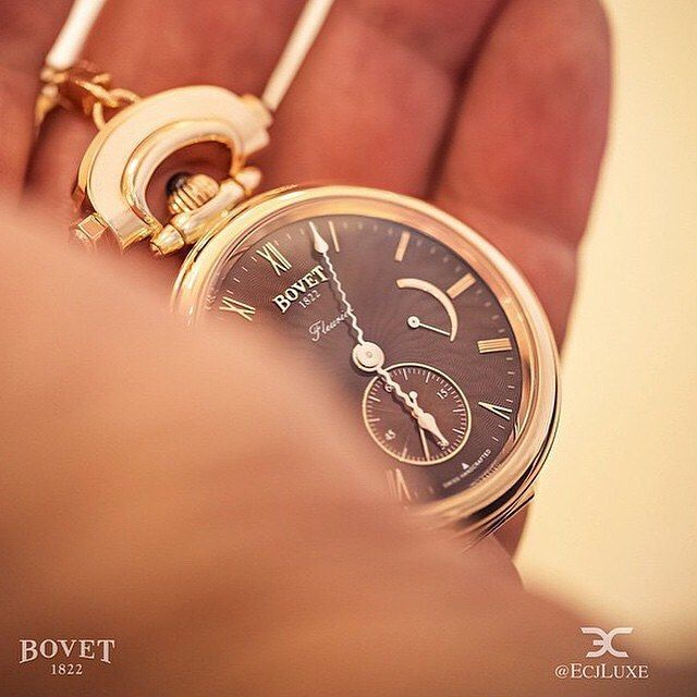 Nothing is more precious than time. #Bovet Amadeo Fleurier with guilloche dial in #pocket #watch form. Photo credit: Bovet 1822. See this Instagram photo by @mywatchsquare • 37 likes