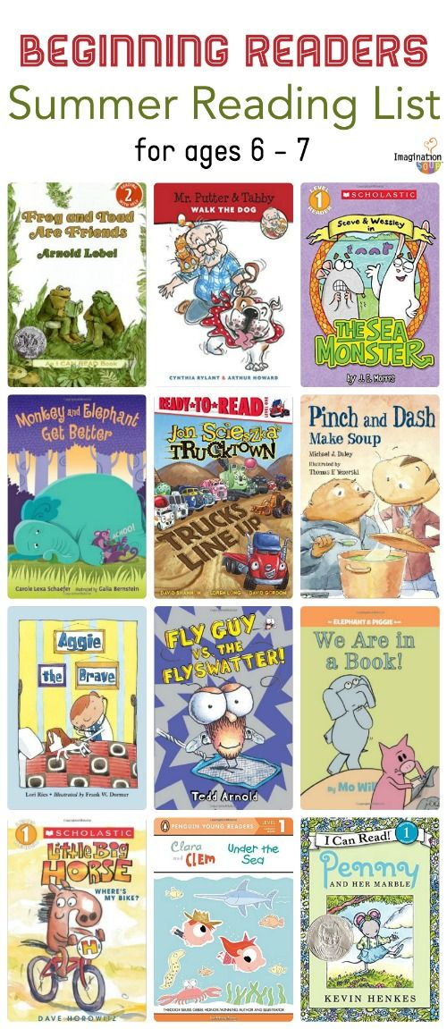 1st Grade Summer Reading List (Ages 6 - 7)