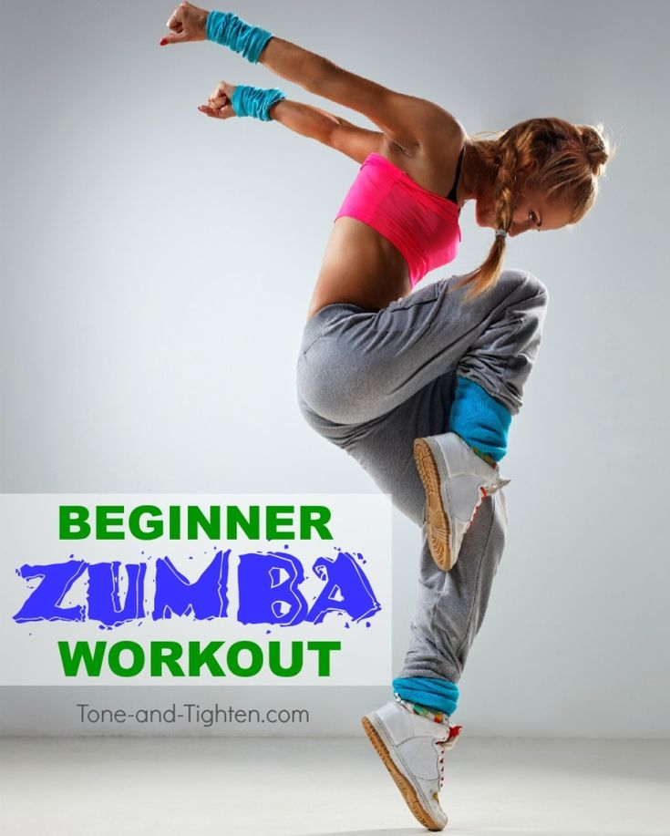 Simple, easy-to-follow moves that result in a killer at-home burn! Beginner Zumba workout on Tone-and-Tighten.com