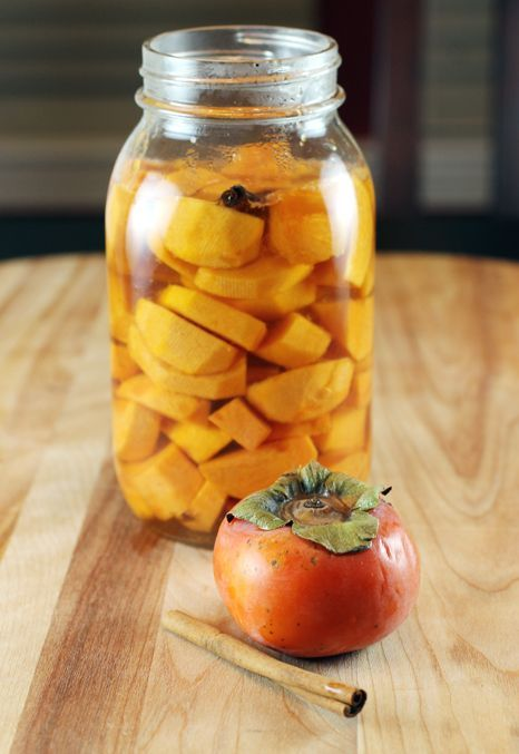 Presenting pickled persimmons -- so easy and so good, especially with charcuterie or any meat.