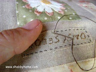 "Shabby Home: Mystery Quilt ""Il Giardino Incantato"" Terzo Blocco - Mystery Quilt ""The Enchanted Garden"" Block 3"