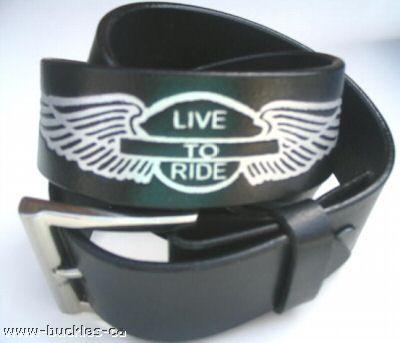 MOTORCYCLE BIKER SNAP ON BLACK LEATHER BELT n BUCKLE #leatherbelts #livetoridebelt #livetorideleatherbelt #belts #snaponbelts