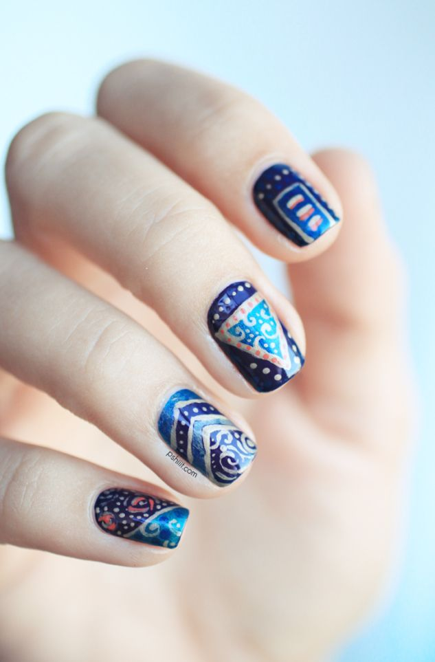 unhas decoradas #nail #unhas #unha #nails #unhasdecoradas #nailart #gorgeous #fashion #stylish #lindo #cool #cute #fofo #mixedprints